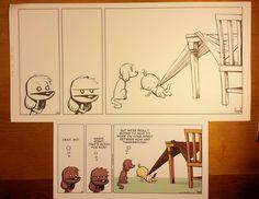 Original Comic Art: Dog eat Doug Syndicated Comic Strip