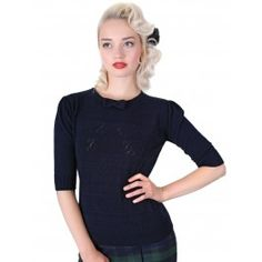 Pull Polo Pin-Up Rétro 50's Rockabilly Annie Cherry