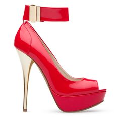 Red hot metallic.  I have these shoe and I love them.