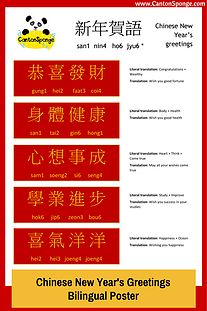 34 best common chinese new year phrases juytping pinyin images bilingual poster chinese new years greetings learn these popular chinese phrases to greet m4hsunfo