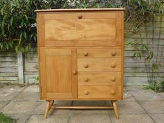 Ercol Blonde Sideboard cupboard Ercol Furniture, Sideboard, Cupboard, Antiques, Home Decor, Clothes Stand, Antiquities, Armoire, Antique