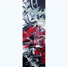 "Daily+Paintworks+-+""Flowers+Reflection+I""+-+Original+Fine+Art+for+Sale+-+©+Khrystyna+Kozyuk"