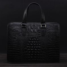 True mens style is all about a stylish crocodile briefcase. Wear this with professional or casual wear for a chic and cool look.