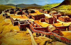 Sesklo Neolithic settlement 6850 BC in Thessaly Greece. Mycenaean, Minoan, Ancient Buildings, Ancient Architecture, Macedonia, Rome, Old Greek, Classical Period, Fantasy City