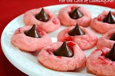 Cherry Chocolate Kiss Cookies | The Cookie Jar | Pinterest