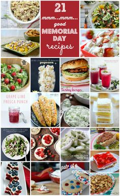 Memorial Day recipes roundup - 21 Memorial Day recipes perfect for your family get-together, backyard bbq or tailgatte party. #memorialday #recipes #bbq via isthisreallymylife.com