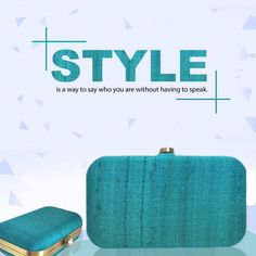 Pure Silk Turquoise Box Clutch 💁💖   Grab this amazing piece NOW! Contact: +919818670290  #DewsCollection #New #Collection #PureSilk #Accessories #Flamboyant #Fashion #Elegant #HappyShopping