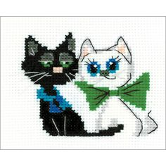 "Happy Pair Counted Cross Stitch Kit - 6.5"" X 5.25"" 10 Count"