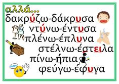Letter Activities, Educational Activities, Grammar Posters, Greek Language, English Words, Special Education, Kids Learning, Counseling, Preschool