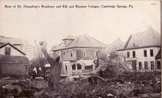 """Humphrey Home Cambridge Springs PA after the """"hurricane"""" blew through"""
