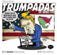 """TRUMPadas de senectud"" #ElCartonDelDia #Zheko_grafico #DisfrutenloConLeche"