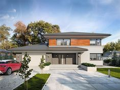 My House Plans, Modern House Plans, Modern House Design, Double Storey House Plans, 4 Bedroom House Designs, Modern Family House, 2 Storey House Design, Crazy Houses, House Stairs
