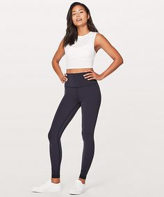 These lightweight, high-rise pants are designed to minimize distractions and maximize comfort as you flow through your yoga practice. Made with our Naked Sensation Nulu™ fabric that's buttery soft, sweat-wicking and four-way stretch. Lululemon Align Pant, High Rise Pants, Women's Leggings, Pants For Women, Black Jeans, Sweatpants, Style Inspiration, My Style, Fabric