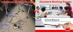 Convert your traditional Meeting Rooms into Standard Meeting rooms with the help of ClickShare.
