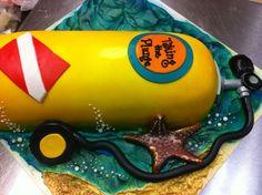 Scuba Diver Groom's cake He loved it!