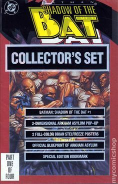 Batman: Shadow of the Bat collectors set for sale. Like Gotham. this has the Arkham prison blueprint included. Comic Book Villains, Marvel Villains, Comic Books, Comics For Sale, Dc Comics, Victor Zsasz, Robin Tim Drake, The New Batman, Arkham Asylum