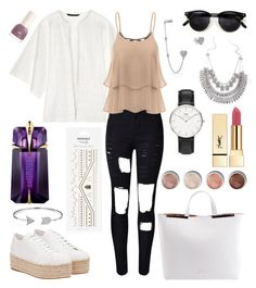 """""""Untitled #269"""" by angelicaaans ❤ liked on Polyvore featuring Bling Jewelry, W118 by Walter Baker, Miu Miu, N°21, Topshop, Daniel Wellington, Yves Saint Laurent, Terre Mère and Thierry Mugler"""
