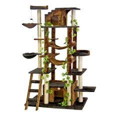 Go Pet Club Cat Tree Furniture 77 in. High - Jungle - Brown/Black - F2090