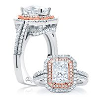 Check out our website  http://www.diamondconnectiononline.com/ #TheDiamondConnection will build your own customized ring to reflect your unique style & personality. #EngagementRing Brand: #AJaffe Ring Style: MES637