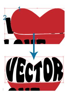 Illustrator Tutorial: Warp Text Inside A Heart Shape | Vector Diary
