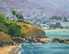 Laguna Beach Gazebo by Kim VanDerHoek Painting Print on Wrapped Canvas