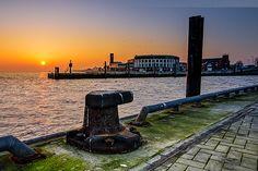 Wilhelmshaven Südstrand: Sonnenuntergang am Alten Vorhafen