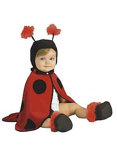 Ladybug Infant Costume....I could totally make this!