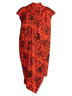 Capped-sleeved draped crepe dress   Vivienne Westwood Anglomania   MATCHESFASHION.COM US