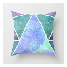 Geometric Reflection Throw Pillow (920 DOP) ❤ liked on Polyvore featuring home, home decor, throw pillows, geometric throw pillows, abstract throw pillows, geometric pattern throw pillows, graphic throw pillows and patterned throw pillows