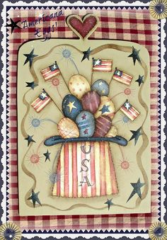 Painting With Friends E Pattern - Americana Eggs - Painted by Sharon Bond on Etsy, $5.00