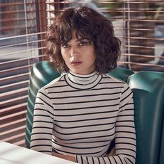 Urban Outfitters Breton Striped Ribbed Turtleneck