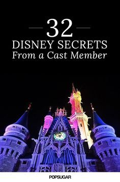 Fun Disney Facts as shared by a Disney Cast Member. So many of these are really fascinating!