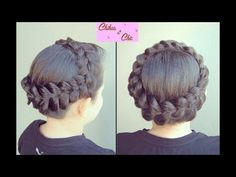Peinado: Corona en Trenza Holandesa   Chikas Chic - YouTube