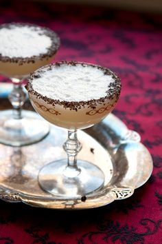 It's chocolate like you've never had it before: pureed cacao pulp with cachaca and Champagne.