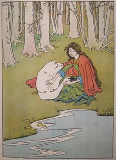 The Wild Swans -- Helen Stratton -- Fairytale Illustration
