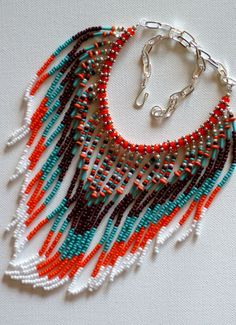 Native American inspired tribal necklace by MontanaTreasuresbyMJ