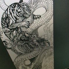 Image result for tiger tattoo black and grey