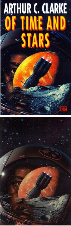 PETER ELSON - Of Time and Stars by Arthur C. Clarke - 1993 Roc UK - cover by isfdb - print by peterelson.co.uk