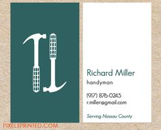 Handyman Stripe Business Card. I love this design! It is available ...