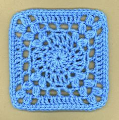 """I'm so blue"" square pattern"