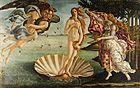El nacimiento de Venus, Botticelli, 1483-1485