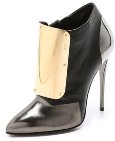 Giuseppe Zanotti Metal Plated Booties in Black | Lyst