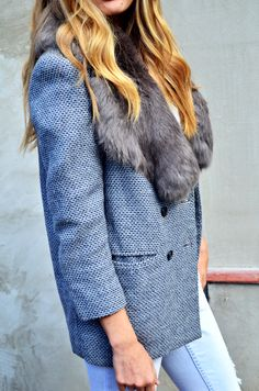 Blazer from secondhand + jeans