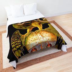 'Dragon tshirt - fire breathing - man eating - a beastie - groteskology' Comforter by Canvas Prints, Art Prints, College Dorm Rooms, Square Quilt, Quilt Patterns, Comforters, Duvet Covers, Dragon, Printed