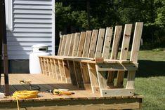 deck bench  Attaching the decking