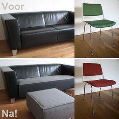 Simple operation, maximum effect! RELATIEF 'EENVOUDIGE' INGREPEN: MAXIMAAL EFFECT!! Eerste deel kleur- en afwerkingsadvies gerealiseerd: Bekledingshoes voor bank en footstool van grijs technisch vilt. Gispen stoelen (ontwerper: A.R.Cordemeyer) bekleed met stof van Almedahls.  #Bouwjaar63 #Gispen #Almedahls #DutchClassic#meets#SwedishDesign Kleur-en afwerkingsadvies: www.bouwjaar63.nl http://www.stichtinggispencollectie.nl/gispen/ontwerpers/ar-cordemeyer