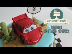 Making a Fondant Lightning McQueen From Disneys Cars How To Tutorial - YouTube