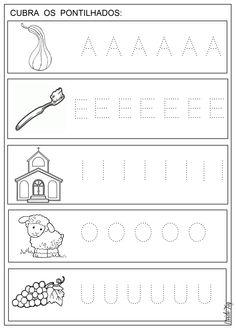 Free Kindergarten Worksheets, Alphabet Worksheets, Worksheets For Kids, Tracing Worksheets, Preschool Writing, Preschool Learning, Preschool Activities, Teacher Education, Kids Education