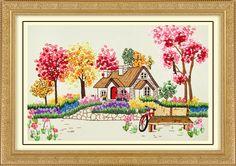 DIY Ribbon embroidery (Scenery and animal pattern) - La tienda ...