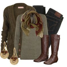 stitchfix: I like everything about this layered outfit. Earth Tones